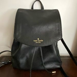 EUC Kate Spade Black Leather Backpack